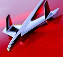 1955 Chevrolet Bel Air Nomad Hood Ornament by Jill Reger