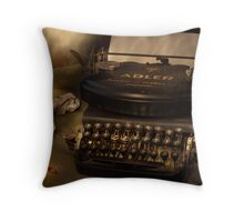 Typed nostalgia Throw Pillow