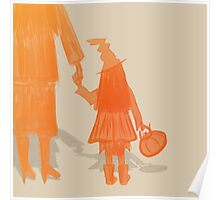 A Trick or Treating Little Witch Art Poster