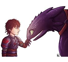 Hiccup & Toothless Photographic Print