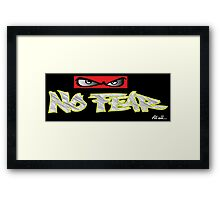 no fear at all Framed Print