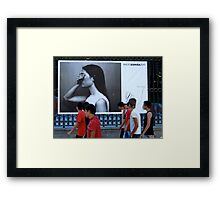 On the streets with Photo Espana 2010 Framed Print