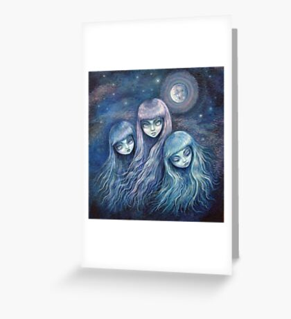 Sisters of the Moon Greeting Card