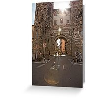 Streets of Lucca Greeting Card