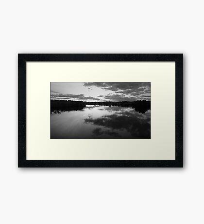 Black Landscape Framed Print