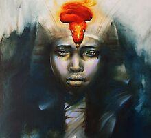 Claire Reid Ancient Egyptian Pharaoh Tutankhamen  by clairereidart