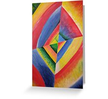 colorful kandinsky reproduction Greeting Card