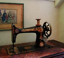 Sewing Machine and Lithograph by Susan Savad