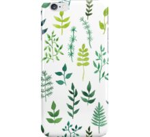 Green floral watercolor pattern iPhone Case/Skin