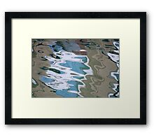 Cartoon Harbor Framed Print