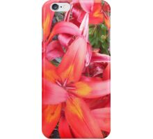 Pink and Orange Lilies iPhone Case/Skin