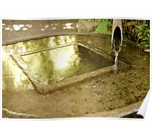 Water from Bamboo Spout Poster