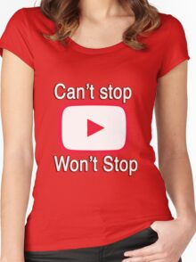 Youtube Love shirt Women's Fitted Scoop T-Shirt