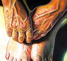 Study of Hands and Feet by Cameron Hampton