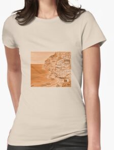 Positano Sepia Womens Fitted T-Shirt