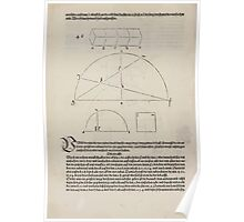 Measurement With Compass Line Leveling Albrecht Dürer or Durer 1525 0160 Repeating and Folding Shapes Poster