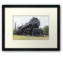 Steam locomotive on display Framed Print