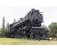 Steam locomotive on display Photographic Print