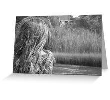 Sea Wind Through Her Hair Greeting Card