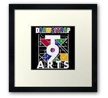 """DRAWSITRAP""The Message by tweek9arts - White/Black Colorway Framed Print"
