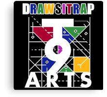 """DRAWSITRAP""The Message by tweek9arts - White/Black Colorway Canvas Print"