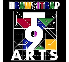 """DRAWSITRAP""The Message by tweek9arts - White/Black Colorway Photographic Print"