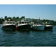 lobster boats in a row Photographic Print