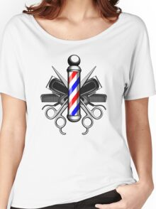 Barber Logo Women's Relaxed Fit T-Shirt