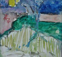 Cypress Trees by Julie-Ann Vellios
