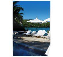 Seaside Pool Poster