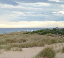 Evening Beach, Lakes Entrance by Virginia McGowan