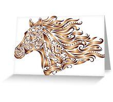 Beautiful Mustang - Bronze Greeting Card