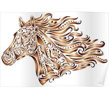 Beautiful Mustang - Bronze Poster