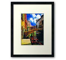 HDR in venice 1 Framed Print