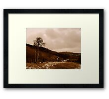 Desolate Field in Spring Framed Print