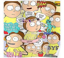 Cute Morty Collage Poster