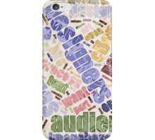 Graphic Design Word Cloud iPhone Case/Skin