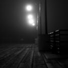A foggy night on the pier by camfischer
