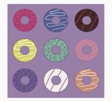 Donut pattern cartoon doughnuts Kids Tee