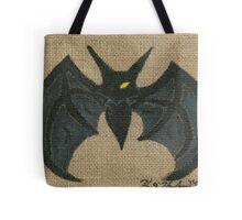 Dark Bat (Burlap) Tote Bag