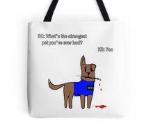Castle dog Tote Bag