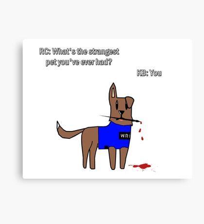 Castle dog Canvas Print