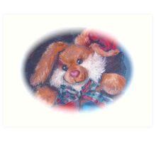 Tartan Bunny card version Art Print