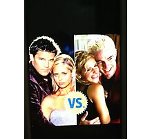 Buffy N Angel or Spike Photographic Print