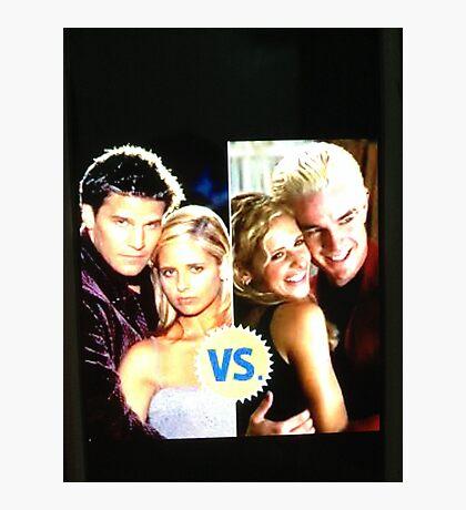 Buffy N Angel or Spike Photographic Print