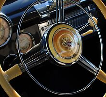 1947 Buick Eight Super Steering Wheel  by Jill Reger