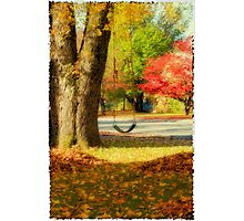 Swinging into Fall Photographic Print