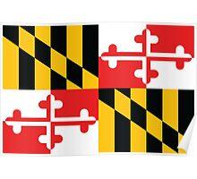 Maryland Flag 1 Poster