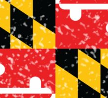 Maryland Flag Distressed Sticker