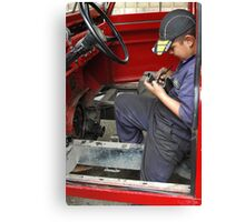 Young Mechanic Canvas Print